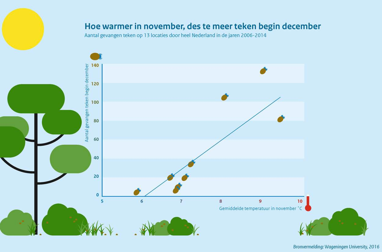 Hoe warmer in november, des te meer teken begin december