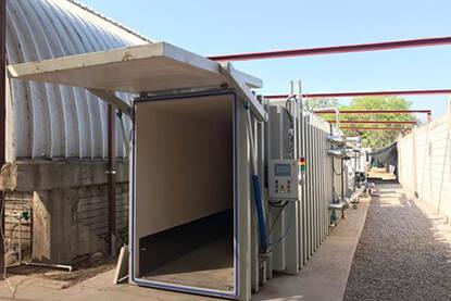 Vacuümkamer voor 8 pallets voor een teler in Mexico.