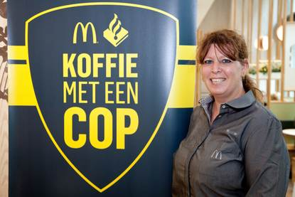 Claudia ter Horst, marketing en pr manager McDonald's Turfmarkt Den Haag